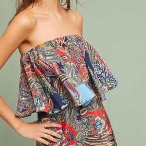 Anthropologie Strapless Jumpsuit By Ranna Gill